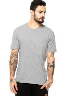 Camiseta Manga Curta West Coast Bolso Cinza