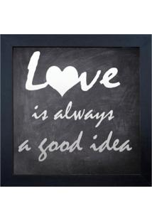 Quadro 65870 Contemporâneo Love Always 28X28 Cm Preto