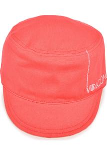 Chapéu Volcom Sides Reversible Branco/Vermelho