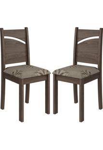 Cadeira Melissa Mdf 02 Unidades Marrocos/Café Cimol