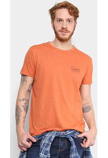 Camiseta Triton Selo India Postage Masculina - Masculino-Laranja