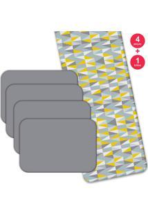 Jogo Americano Love Decor Com Caminho De Mesa Wevans Geometric 3D Kit Com 4 Pã§S + 1 Trilho - Multicolorido - Dafiti