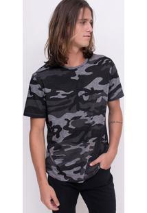 Camiseta Estampa Camuflada
