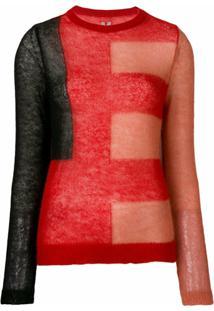 Rick Owens Suéter De Tricô - Vermelho