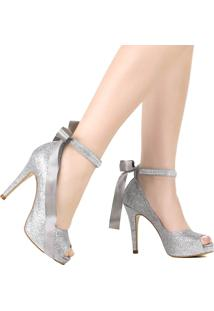 Sapato Zariff Peep Toe Salto Fino