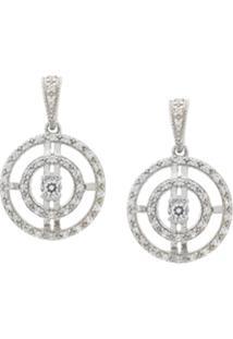 V Jewellery Par De Brincos 'Paloma' De Prata - Estampado