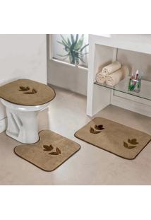Jogo Banheiro Dourados Enxovais Tulipa Castor