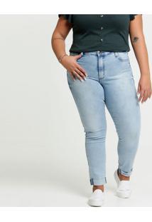 Calça Jeans Skinny Feminina Plus Size Razon