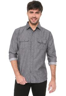 Camisa Malwee Slim Básica Preta