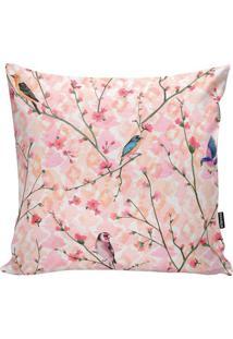 Capa De Almofada Birds And Flowers- Laranja & Rosa- Stm Home