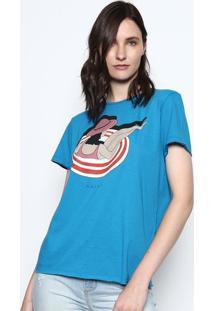 """Camiseta """"Verão"""" - Azul & Vermelha - Colccicolcci"""
