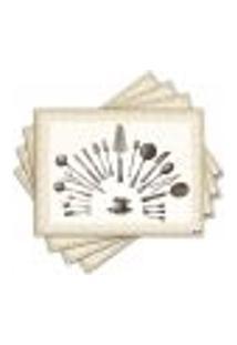 Jogo Americano - Utensílios De Cozinha Com 4 Peças - 076Jo