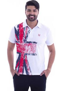 ... Camisa Polo Live England Branca 427-01 - M 01bf7f2d14f0f