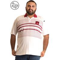 Camisa Polo Konciny Plus Size 10062 Vermelho Branco c6fea16ac7d75