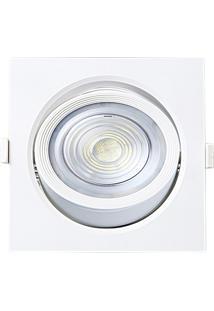 Spot Led De Embutir Quadrado Alltop 10W Autovolt 6500K Luz Branca