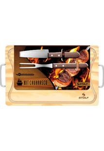 Kit Churrasco Stolf Bege
