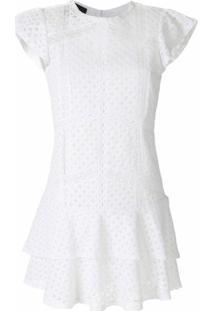 Andrea Bogosian Vestido Sloan Com Bordado Inglês - Branco
