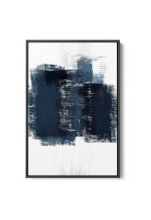 Quadro 60X40Cm Abstrato Textura Artea Moldura Flutuante Filete Preta