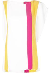 Carolina Herrera Blusa Listrada - Amarelo