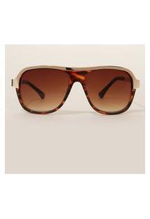 Óculos De Sol Feminino Aviador Oneself Tartaruga