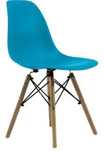 Cadeira Eames Dkr Wood Turquesa - Azul - Dafiti