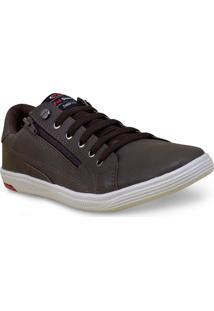 Sapatenis Masc Ped Shoes 11008-B Rato/Chocolate