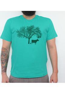 Vacagando - Camiseta Clássica Masculina