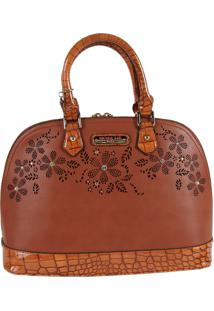 Bolsa Nicole Lee Ava Floral Dome Brown