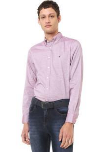 Camisa Tommy Hilfiger Reta Logo Rosa