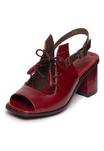 Sandalia Vermelha Feminina Ava Gardner - Amora / Chocolate 7427