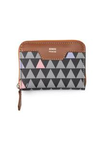 Carteira Triangle Canvas - Preto