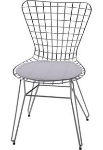 Cadeira Jacobsen Aramada Cromada Branco - 12342 - Sun House