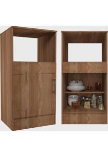 Cozinha Compacta Completa Marajã³ C/ 6 Portas 2 Gavetas Montana Nova Mobile Marrom - Marrom - Dafiti