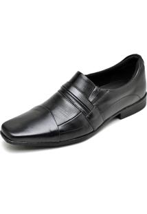 Sapato Social Couro Dr Shoes Recortes Preto