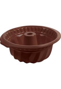 Forma Para Bolo Glac㪠Chocolate Brinox - Marrom - Dafiti