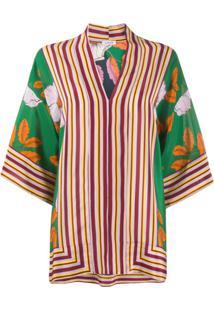P.A.R.O.S.H. Blusa Com Recorte Contrastante - Verde