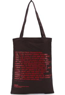 Rick Owens Drkshdw 'Mother'S Tears' Print Tote Bag - Marrom