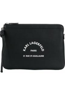 Karl Lagerfeld Clutch Rue St Guillaume - Preto