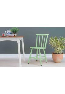 Cadeira Para Sala De Jantar Mimo Laqueada Verde Sálvia 44X41,5X81Cm