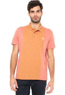 Camisa Polo Mr Kitsch Recortes Caramelo