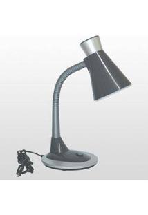 Luminária De Mesa Tlm 03 Taschibra Plástico E27 1X14W Cinza