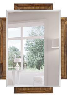 Espelho Decorativo Veneto 86X116 Cm Marrom