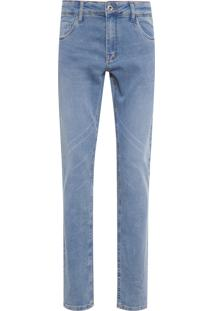 Calça Masculina Jeans Comfort Stoned - Azul