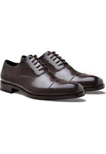 Sapato Social Oxford Brogan Oliver Moss Masculino - Masculino-Marrom Escuro