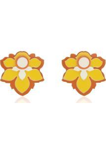 Brinco Le Diamond Bella Mini Amarelo