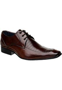 Sapato Social Couro Com Cadarço Bigioni - Masculino-Café