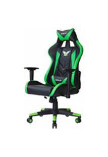 Cadeira Gamer Pro Eaglex Giratoria Reclinavel Ajuste De Altura Verde