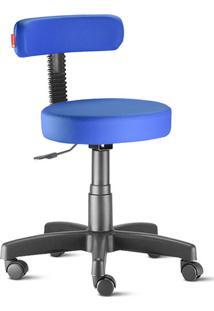 Cadeira Mocho Slim Azul Royal Giratória