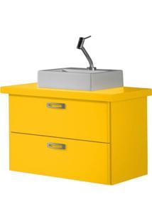 Balcao Kenzo 2 Gavetas Cor Amarelo - 29550 - Sun House
