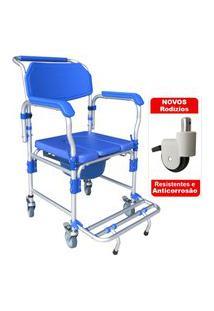 Cadeira De Banho Em Alumínio D60 Dellamed